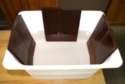無垢フローリングの浸水試験(自社)