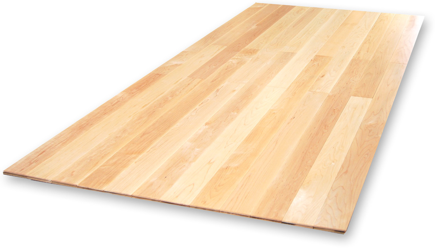 ハードメープル:2mm無垢仕上げ床暖房フローリング
