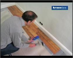 施工風景 | 床暖房フローリング、リフォームフローリング、ラミネートフローリング「クロノテックス」KRONOTEXの施工ビデオ