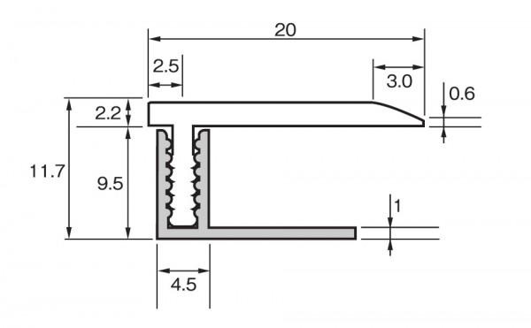 ラミネートフローリング用L型見切り材