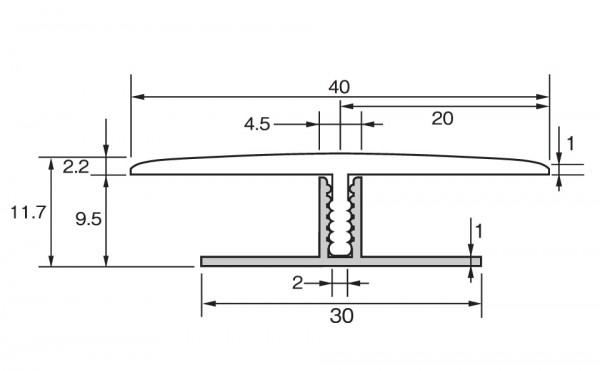 ラミネートフローリング用T型見切り材