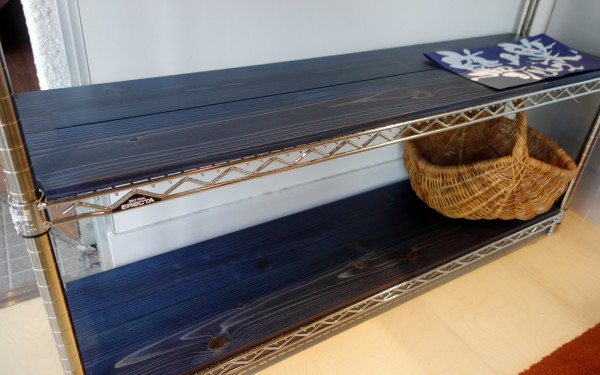 藍染杉の棚板