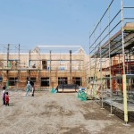 木造トラス老人健康保健施設